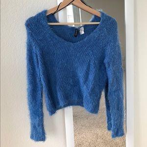 Fuzzy Blue Sweater